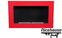 Биокамин Nice-House H-Line 65x40 см, красный