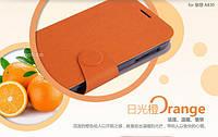 Чехол-книжка Mofi для телефона Lenovo A830 оранжевый