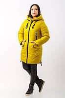 Женская модная желтая зимняя куртка 2017 (рр 42-54), разные цвета