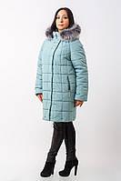 Женское модное стеганное зимнее полупальто больших размеров (рр 50-60), разные цвета