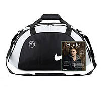 Спортивная сумка Nike черная с серым