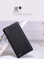 Чехол бампер пленка Nillkin Super Frosted Shield для телефона смартфона Lenovo P780  black черный