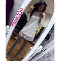 Короткое платье с ажуром Zara по низу