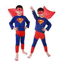 Детский карнавальный костюм Superman, костюм супер героя Супермена