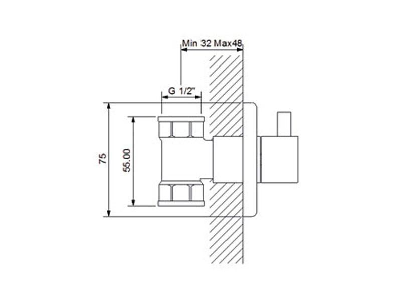 Newarc Запорный вентиль Newarc Maximal, золотой 101632G