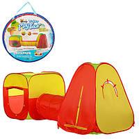 Детская большая палатка с тоннелем M 2965. Размеры палатки: 324-93-105см