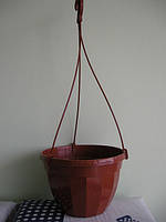 Подвесной горшок с крюком  16 коричневый, фото 1