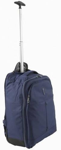 Тканевый чемодан-рюкзак 2-колесный 39 л. Roncato IRONIC 5117/23 т. синий