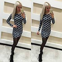 Короткое платье с длинным рукавом ангора