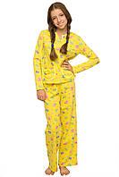 Пижама  предназначена для детей от 9-ти до 12-ти лет. Пошита из качественного 100% хлопка, она мягкая и прият