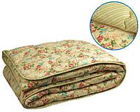 Одеяло шерстяное 140х205 зимнее (ткань поплин)