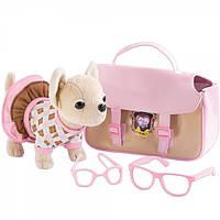 Плюшевая собачка Simba Chi Chi Love Оксфорд с сумкой и очками 5894837