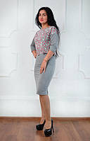 Женский костюм с абстрактным принтом, фото 1