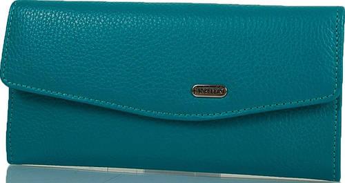 Удобный женский кожаный кошелек CANPELLINI SHI2029-42 бирюзовый