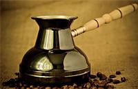 Турка для кофе медная (400 мл)  Темная