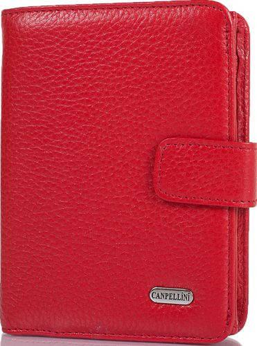 Яркий карманный женский кожаный кошелек CANPELLINI SHI968-172 красный