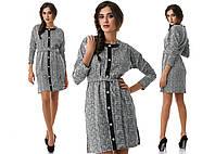 Теплое платье с кармашками из французского трикотажа. Разные цвета.