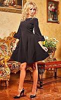 """Женское нарядное платье """"Анджела"""" (черное)"""