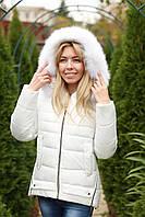 Зимняя куртка женская с натуральным мехом