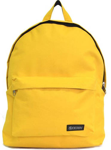 Яркий молодежный рюкзак на 14 л Derby 0100619,07 желтый