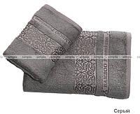 Шикарный набор бамбуковых полотенец Cestepe стального цвета