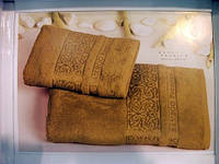 Набор бамбуковых полотенец Gestepe цвета бронза