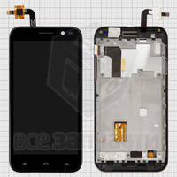 Дисплей для мобильных телефонов Fly IQ455 Ego Art 2, черный, оригинал, с сенсорным экраном, с передней панелью