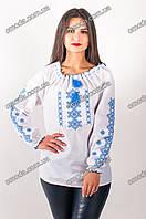 Вышиванка с голубой вышивкой Ярина