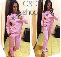 "Костюм женский свитшот и брюки трикотаж "" Мороженое рожок"" 6 цветов Dc20"