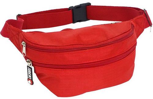 Яркая красная сумка на пояс Derby 0200600,04