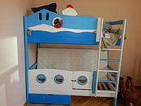 """Двухъярусная кровать """"Морячок"""", иллюминаторы, калиточка."""