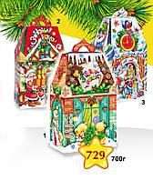 """Новогодняя упаковка 729*1*2*3 """"Медвежий дом"""", """"Дом гномиков"""", """"Карамельный домик"""""""