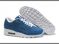 """Зимние кроссовки на меху Nike Air Max 90 VT Tweed Fur """"Light Blue"""" - """"Голубые"""""""