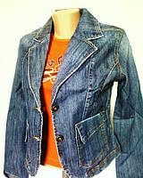Куртка-жакет женская джинсовая, р.40-46