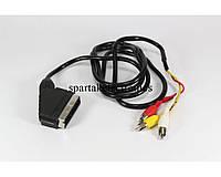 Шнур 21P- 3R 1.2m, кабель переходник scart, шнур для подключения видео оборудования