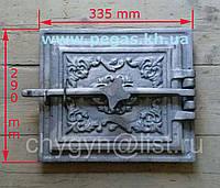 Дверка печная чугунное литье (290х335 мм)