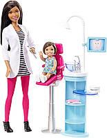 Набор Barbie, кукла Барби Афро-американка врач стоматолог