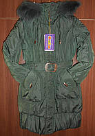 Пальто зимние на девочек, Donilo, 146 - 164