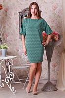 Строгое бирюзовое платье, фото 1
