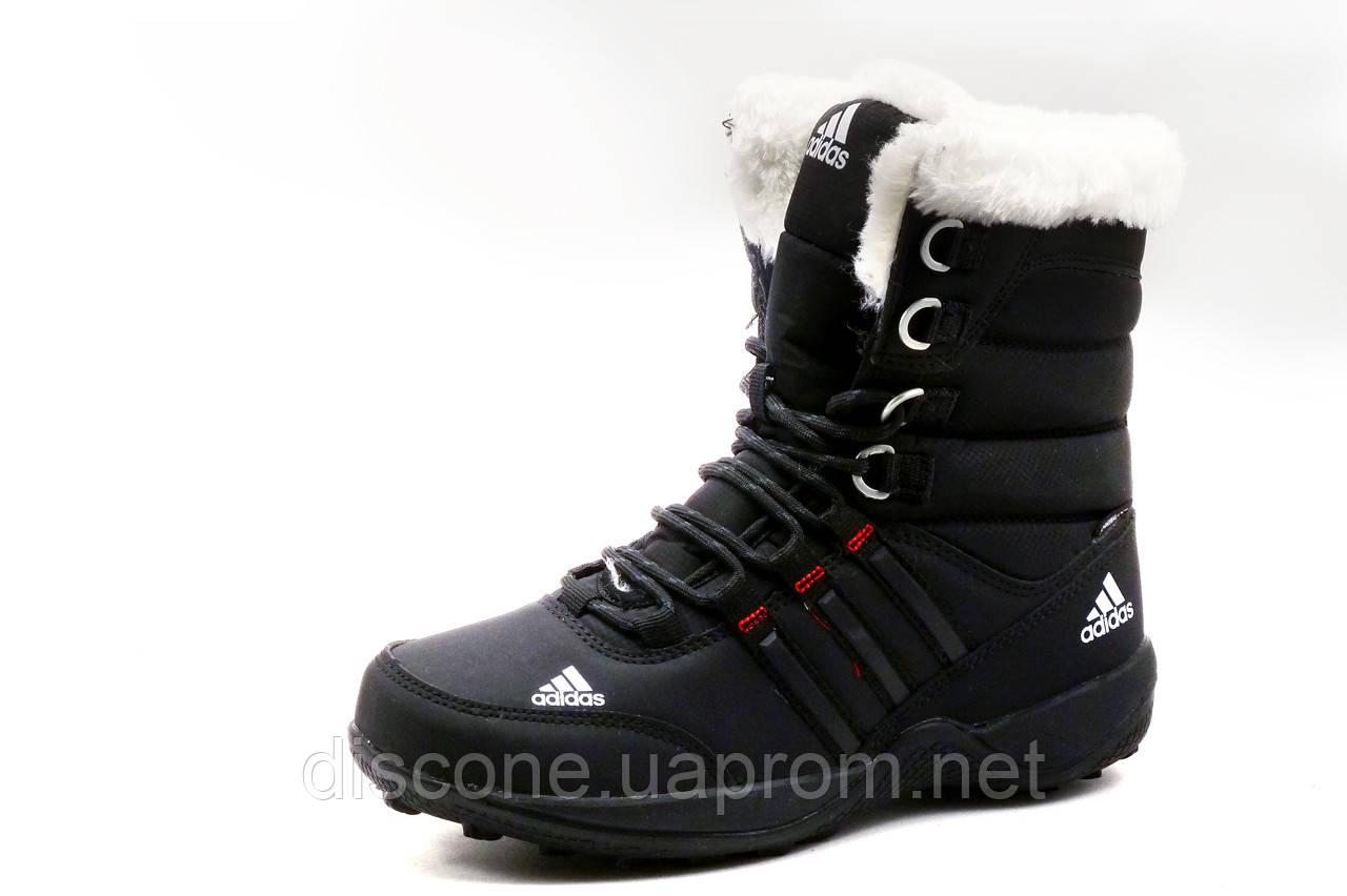Кроссовки женские Adidas, зимние, высокие, на меху, черные, р. 37 39