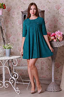 Однотонное платье из замши, фото 1