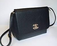 Женский клатч реплика Chanel черного цвета