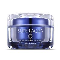 Интенсивно питательный крем для сухой кожи MISSHA Super Aqua Ultra Nutritious Cream