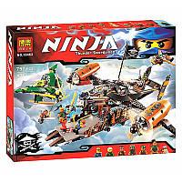 """Конструктор  Ninja 10462 Bela (аналог Lego Ninjago 70605) """"Цитадель Несчастья"""" 757 дет."""