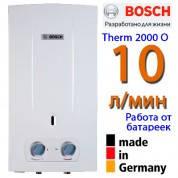 Газовая колонка BOSCH Therm 2000 O W10 KB (НОВИНКА, 10 л. в мин., розжиг от батареек)