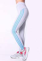 Молодежные женские лосины для спорта серого цвета 334/1