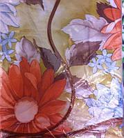 Скатерть кухонная с разноцветными цветами подсолнух