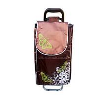 Хозяйственная складная сумка на колесах