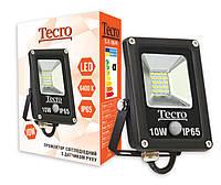 Светодиодный прожектор Tecro TL-FL-10B-PR 10W 6400K с датчиком движения