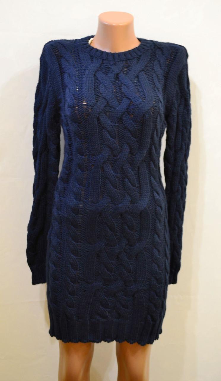 Платье из крупной вязки